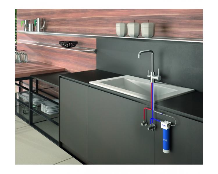 Kuhinjska mešalna armatura za sistem za ultrafiltracijo pitne vode, Tau, Genebre