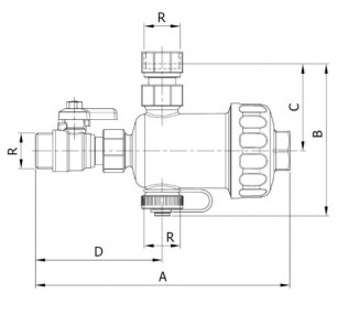 Magnetic filter for boilers